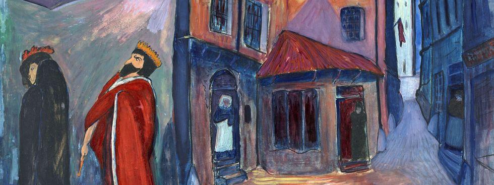 Marianne von Werefkin: In die Nacht hinein, 1910, Tempera, Mischtechnik auf Papier und Karton, 74 x 101 cm, Städtische Galerie im Lenbachhaus und Kunstbau München, Foto: Lenbachhaus