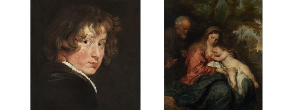 Van Dyck in der Alten Pinakothek, Foto: Wien, Gemäldegalerie der Akademie der bildenden Künste (links) und Bayerische Staatsgemäldesammlungen, Alte Pinakothek, München (rechts)