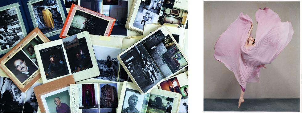Ist das Mode oder kann das weg!? 40 Jahre VOGUE Deutschland, Foto: links - VOGUE Deutschland, 2019, Scrapbooks von Matthias Ziegler. Foto: Vanessa Daly; rechts - VOGUE Deutschland, 2004, Hélène Bouchet. Foto: Ralph Mecke