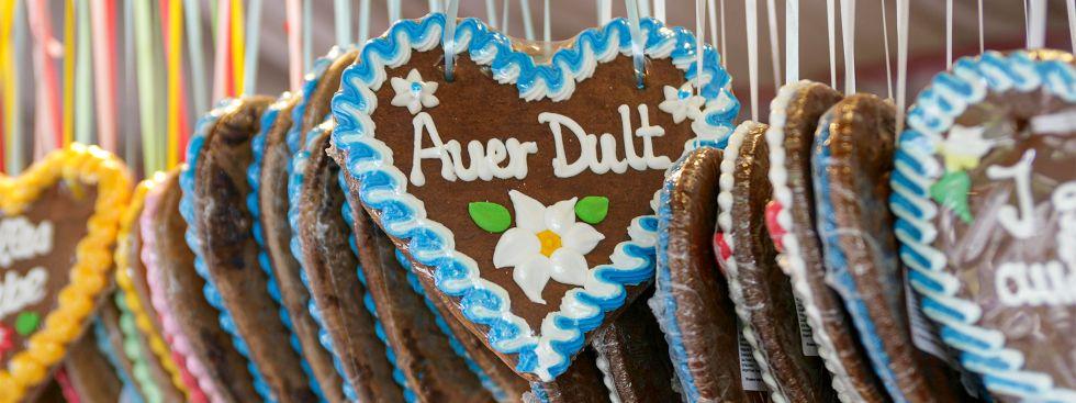 Lebkuchenherz auf der Auer Dult, Foto: J. Wildgruber
