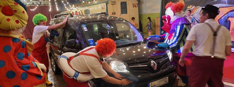 Die Clown-Waschanlage vom Circus Krone, Foto: Circus Krone