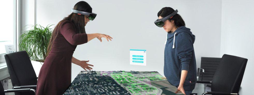 Virtual Reality Brille von Freiham in der Ausstellung #mitmünchnern - Jetzt ist Zukunft, Foto: Holo Light