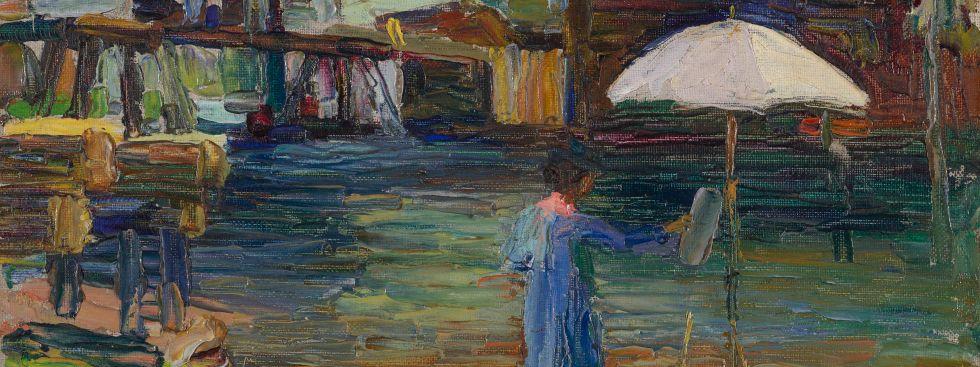 """Bild aus der Ausstellung """"Unter freiem Himmel"""", Foto: Gabriele Münter Stiftung 1957"""
