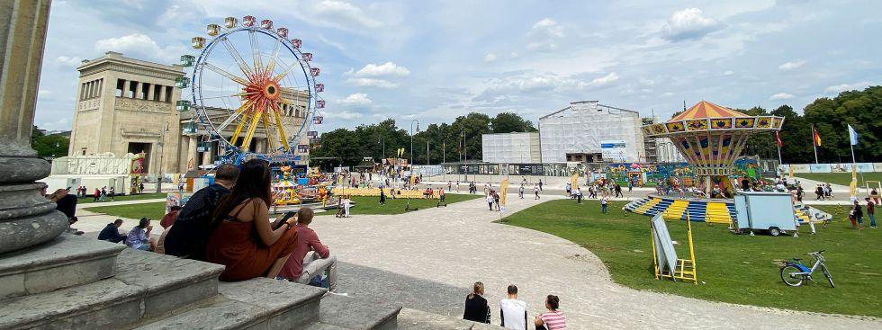 Sommer in der Stadt: Blick von der Antikensammlung am Königsplatz, Foto: muenchen.de/Anette Göttlicher