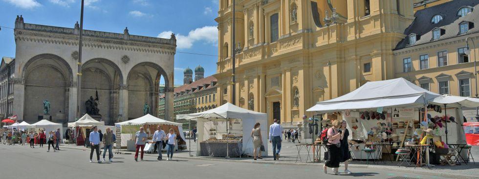 Kunsthandwerkermarkt beim Sommer in der Stadt, Foto: muenchen.de/Michael Hofmann