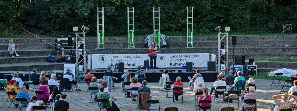 Wanderbühne im Ostpark mit Roland Hefter, Foto: muenchen.de/Rico Güttich