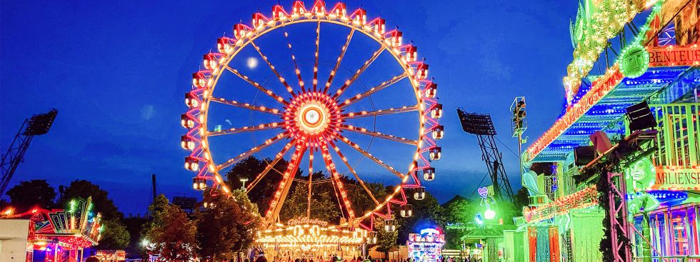 Das Riesenrad von Willenborg auf dem Coubertinplatz, Foto: muenchen.de/Anette Göttlicher