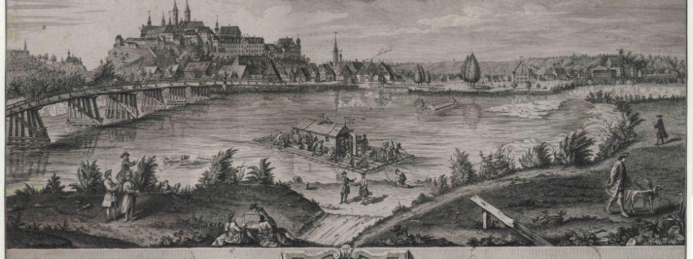 Historisches Bild vom Domberg Freising und dem Erzbistum, Foto: Erzbistum München Freising