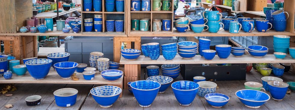 Geschirrmarkt auf der Auer Dult, Foto: Anette Göttlicher