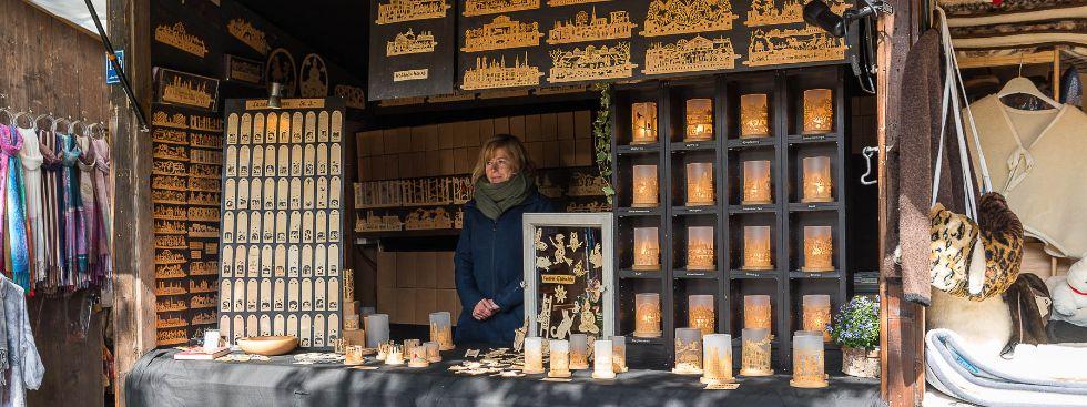 Münchner Licht: Windlichter von Familie Porth auf der Auer Dult, Foto: Mario Fichtner