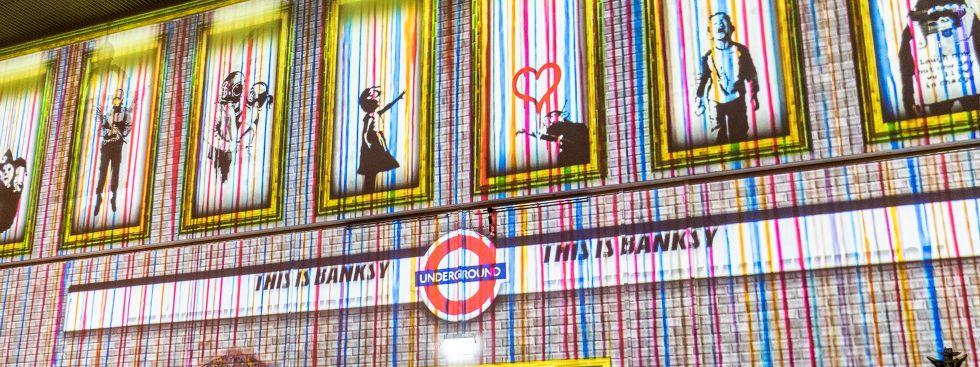 """Videoinstallation """"This is Banksy"""" im Isarforum des Deutschen Museums, Foto: Anette Göttlicher"""