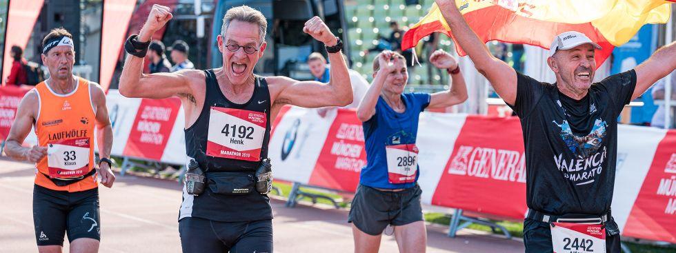 Zieleinlauf beim München Marathon, Foto: MÜNCHEN MARATHON GmbH