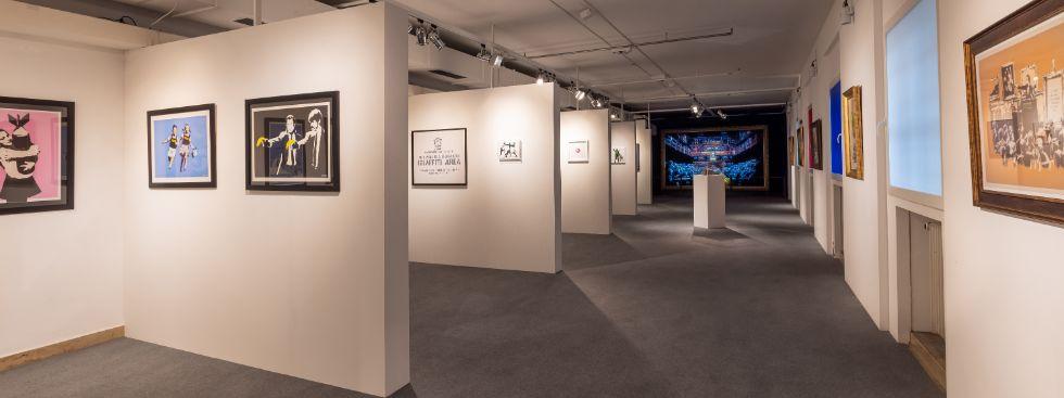 """The Mystery of Banksy: A Genius Mind"" Ausstellung im Isarforum 2021, Foto: Dominik Gruss"