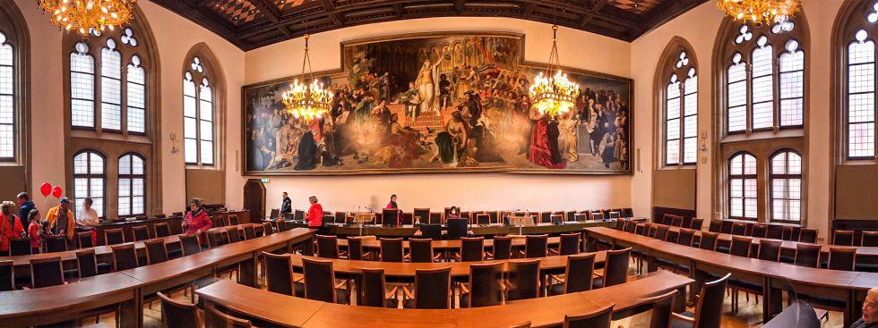 Großer Saal im Neuen Rathaus, Foto: Michael Nagy / Presseamt München (2017)