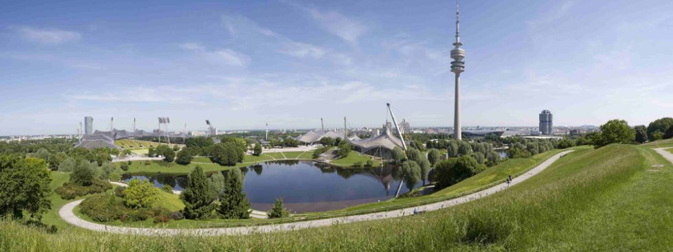 Sommerpanorama  - Blick vom Olympiaberg, Foto: Olympiapark München