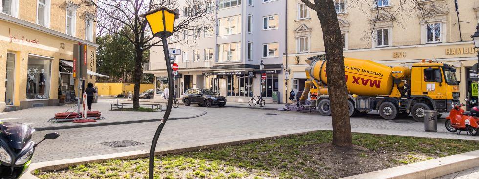 Wedekindplatz in Schwabing, Foto: Anette Göttlicher