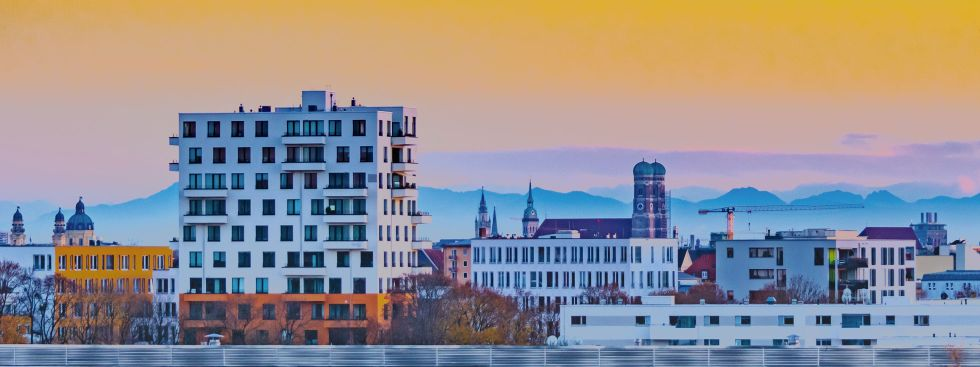 München im Herbst - Aussicht vom Olympiapark , Foto: muenchen.de/Michael Hofmann