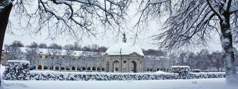 Schnee im Hofgarten, Foto: muenchen.de / Leonie Liebich