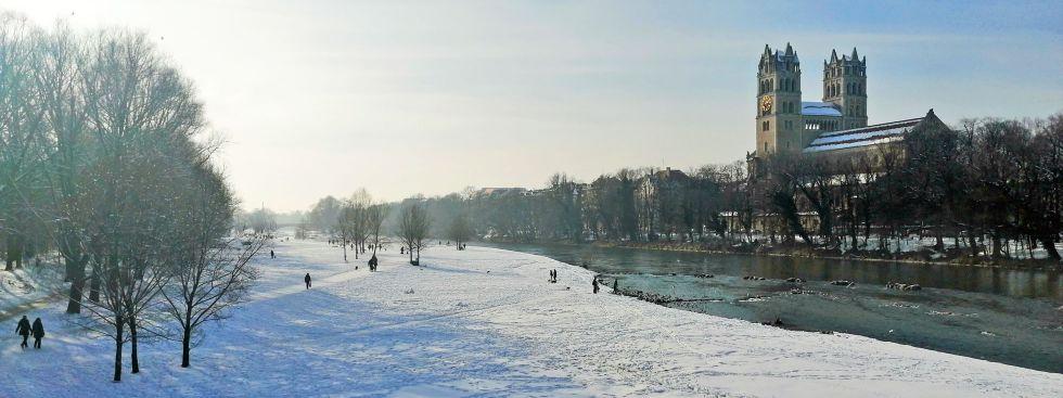 Wintersonne an der Isar, Foto: muenchen.de / Leonie Liebich