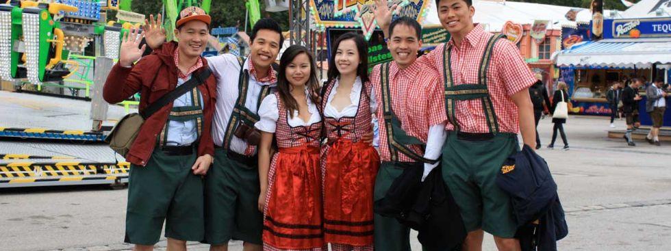 Die verschiedenen Wiesn Nationalitäten (Archiv), Foto: Leonie Liebich