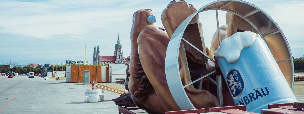 Oktoberfest 2019 — so läuft der Wiesn-Aufbau, Foto: muenchen.de/Anette Göttlicher (2019)