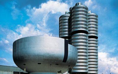 Das BMW-Hochhaus am Mittleren Ring