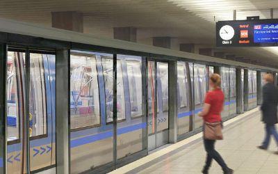 Visualisierung: Bahnsteigtüren am U-Bahnhof Olympiazentrum