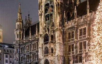 Der Christbaum am Münchner Marienplatz