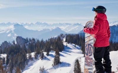 Snowboarden Kampenwand