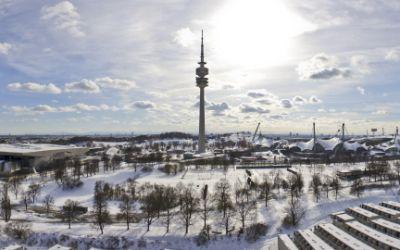 Der Olympiapark im Winter