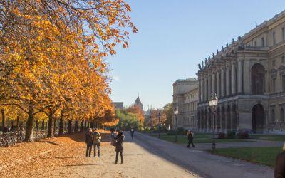 Hofgarten im Herbst bei der Residenz