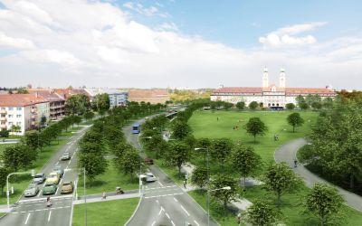 Visualisierung Luise-Kiesselbach-Platz