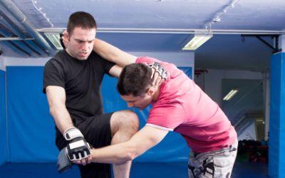 Zwei Männer beim Kampfsport-Training