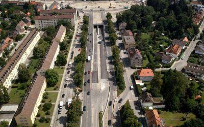 Der Luise-Kiesselbach Platz in München