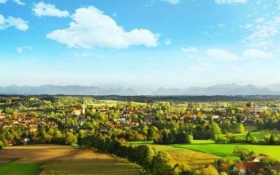 Panoramablick auf Ebersberg