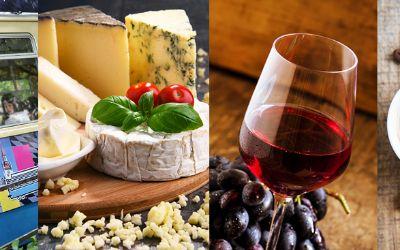 MVG, Collage SchwabingTram, Käse, Wein, Kaffee, Verkostung