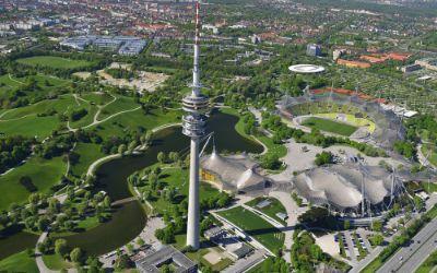 Der Olympiapark von oben