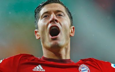 Bayerns Robert Lewandowski jubelt.