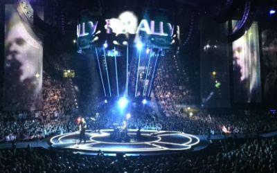 Die Band Muse bei ihrem Live-Auftritt in der Olympiahalle