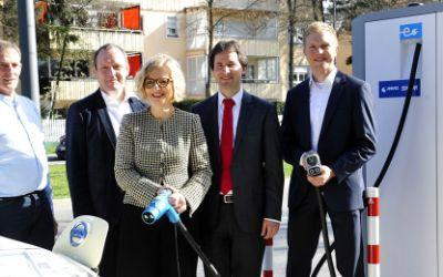 Die erste Schnellladestation für Elektrofahrzeuge der SWM und MVG