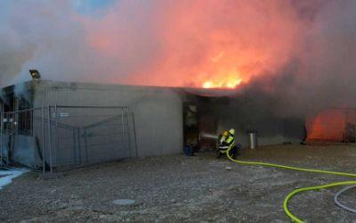 Feuer im Euroindustriepark 27.1.16