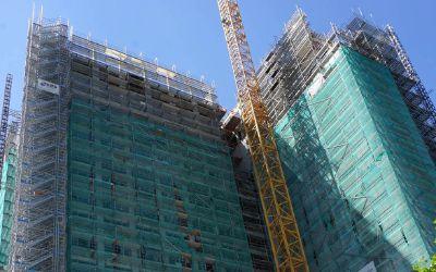 Das Baywa-Hochhaus im Umbau