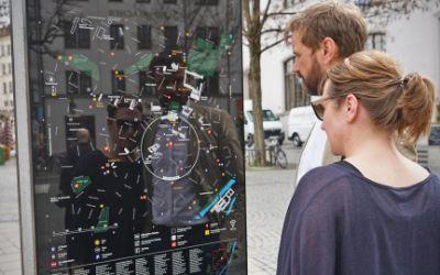 Entwurf der neuen Infostelen in München