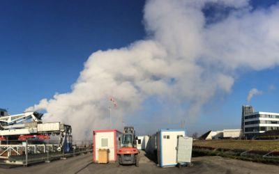 Die Geothermie Anlage in Freiham.