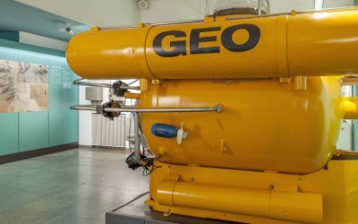 Das Tauchboot GEO am Eingang zur Ausstellung Meeresforschung