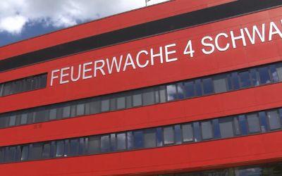 Die neue Feuerwache in der Heßstraße