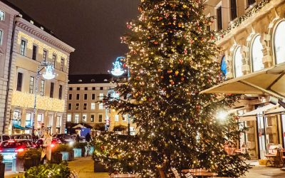 Weihnachtsbeleuchtung am Café Luitpold