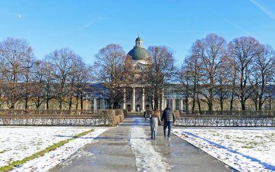 Wintersonne und etwas Schnee im Hofgarten