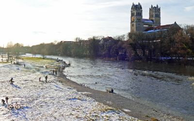 Isar im Winter