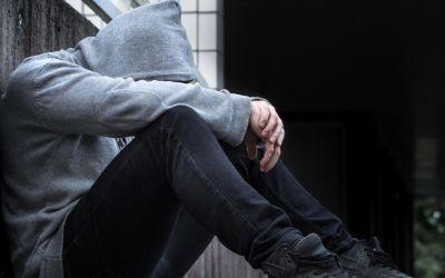 Person mit Depressionen